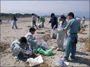 塩屋海岸清掃