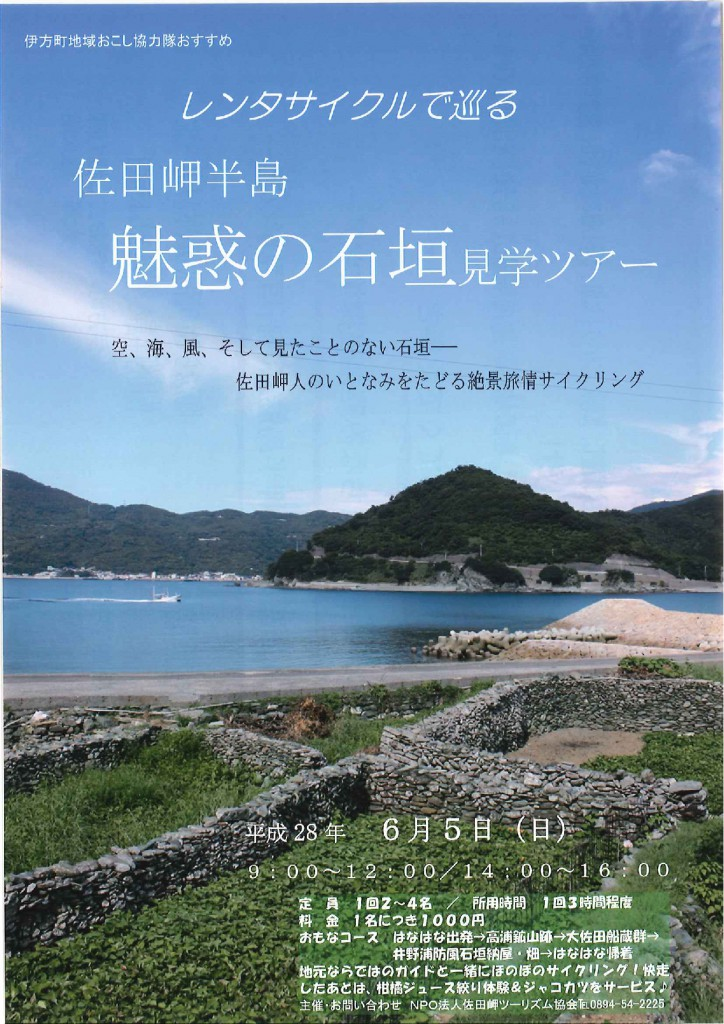 レンタサイクルで巡る佐田岬半島魅惑の石垣見学ツアー-001